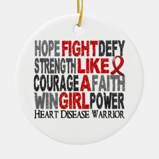 Fight Like A Girl Heart Disease 23 4 Christmas Tree Ornament