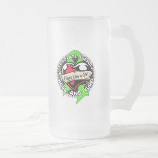 Fight Like a Girl Heart - Non Hodgkin's Lymphoma Coffee Mug