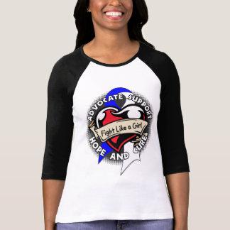 Fight Like a Girl Heart Ribbon - ALS T-shirts