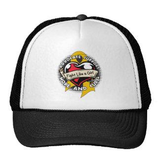 Fight Like a Girl Heart Ribbon - Appendix Cancer Trucker Hat