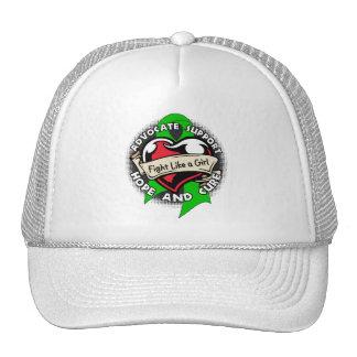 Fight Like a Girl Heart Ribbon - Cerebral Palsy Trucker Hat