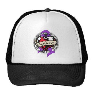 Fight Like a Girl Heart Ribbon - Crohns Disease Trucker Hat