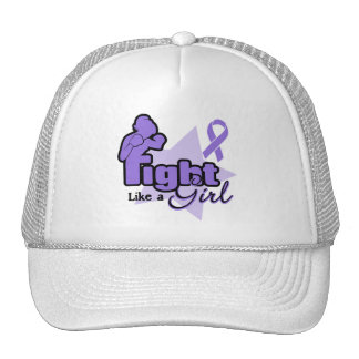 Fight Like a Girl - Hodgkin's Lymphoma Trucker Hat