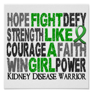 Fight Like A Girl Kidney Disease 23.4 Poster
