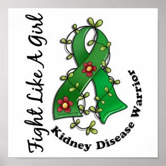 Fight Like A Girl Kidney Disease 29.4 Poster