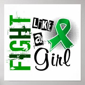 Fight Like A Girl Kidney Disease 36.8 Poster