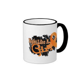 Fight Like A Girl Leukemia 17.8 Mug