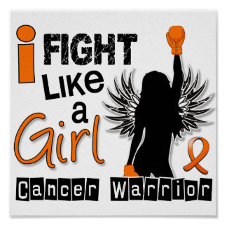 Fight Like A Girl Leukemia 26.2 Poster