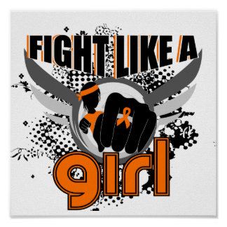 Fight Like A Girl Leukemia 33.8 Poster