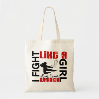 Fight Like A Girl Lung Cancer 3.2 Tote Bags