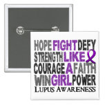 Fight Like A Girl Lupus 23.3 Buttons
