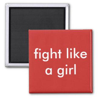 fight like a girl magnet