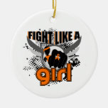 Fight Like A Girl MS 33.8 Christmas Ornament