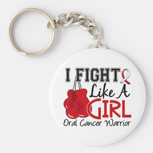 Fight Like A Girl Oral Cancer 15.2 Keychains