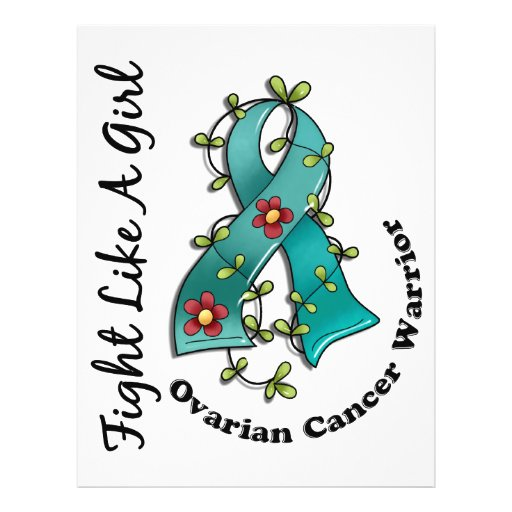 Fight Like A Girl Ovarian Cancer 29 4 FlyerOvarian Cancer Ribbon Fight Like A Girl