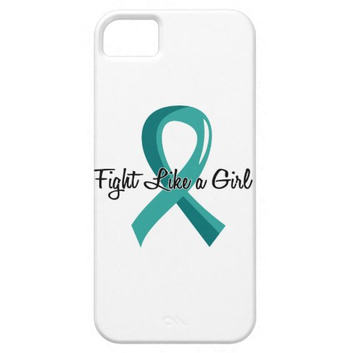 Fight Like A Girl Ovarian Cancer 41.8 iPhone 5 Case