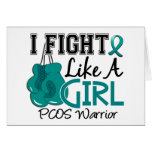 Fight Like A Girl PCOS 15.2 Greeting Cards