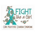Fight Like A Girl PCOS 38.82 Post Card