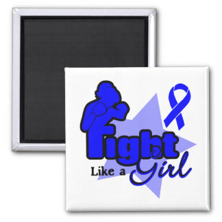 Fight Like a Girl - Rectal Cancer 2 Inch Square Magnet
