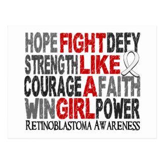 Fight Like A Girl Retinoblastoma 23 3 Postcard