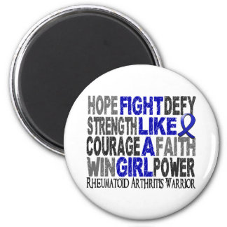 Fight Like A Girl Rheumatoid Arthritis 23.4 Refrigerator Magnet
