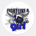 Fight Like A Girl Rheumatoid Arthritis 33.8 Stickers