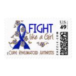 Fight Like A Girl Rheumatoid Arthritis 38.82 Stamps