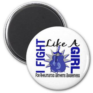 Fight Like A Girl Rheumatoid Arthritis 8.5 Refrigerator Magnets