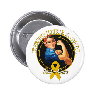 Fight Like a Girl Rosie Riveter - Appendix Cancer Pin