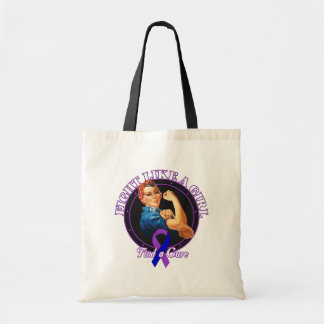 Fight Like a Girl Rosie Riveter - Childhood Stroke Canvas Bags