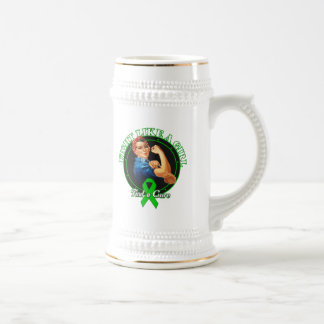 Fight Like a Girl Rosie Riveter - Mental Health Coffee Mugs