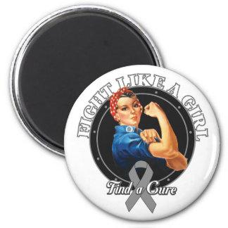 Fight Like a Girl Rosie Riveter Parkinsons Disease Refrigerator Magnets