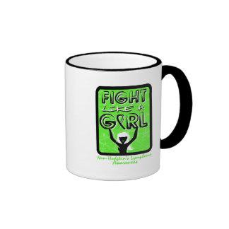 Fight Like A Girl Sign Non-Hodgkin's Lymphoma Ringer Coffee Mug
