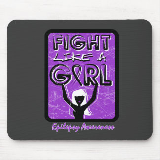 Fight Like A Girl Slogan Sign Epilepsy Mouse Pad