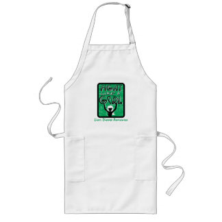 Fight Like A Girl Slogan Sign Liver Disease Apron