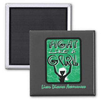 Fight Like A Girl Slogan Sign Liver Disease Refrigerator Magnet