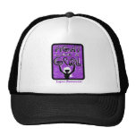 Fight Like A Girl Slogan Sign Lupus Hats