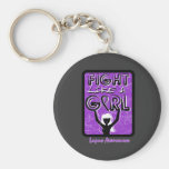 Fight Like A Girl Slogan Sign Lupus Key Chains