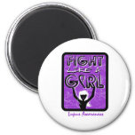 Fight Like A Girl Slogan Sign Lupus Refrigerator Magnet