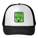 Fight Like A Girl Slogan Sign Lyme Disease Mesh Hats