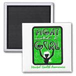Fight Like A Girl Slogan Sign Mental Health Refrigerator Magnets