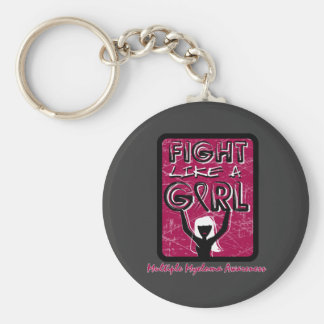 Fight Like A Girl Slogan Sign Multiple Myeloma Basic Round Button Keychain