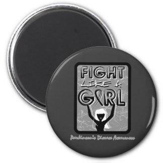 Fight Like A Girl Slogan Sign Parkinson's Disease Refrigerator Magnet
