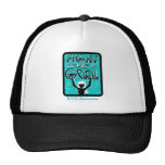 Fight Like A Girl Slogan Sign PCOS Hats