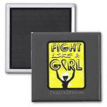 Fight Like A Girl Slogan Sign Sarcoma Fridge Magnets