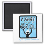 Fight Like A Girl Slogan Sign Thyroid Disease Refrigerator Magnet