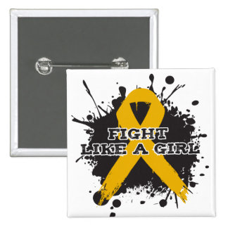 Fight Like A Girl Splatter - Appendix Cancer Pins