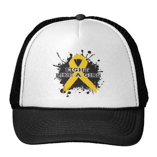 Fight Like A Girl Splatter - Childhood Cancer Trucker Hat