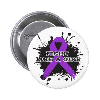 Fight Like A Girl Splatter - Epilepsy Button