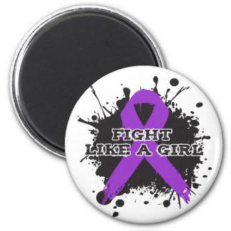 Fight Like A Girl Splatter - Epilepsy Magnet